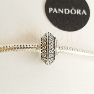 Pandora Sparkling Pavé Charm Silver New Collection